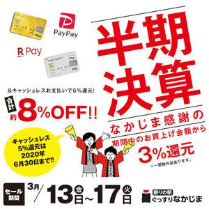 【3/13~3/31】約8%OFFのお得セール!